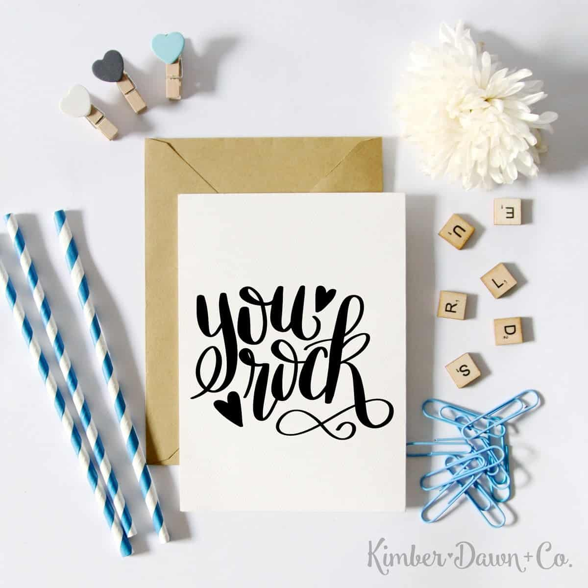 You Rock- Free Cut File for Silhouette CAMEO + Cricut crafts