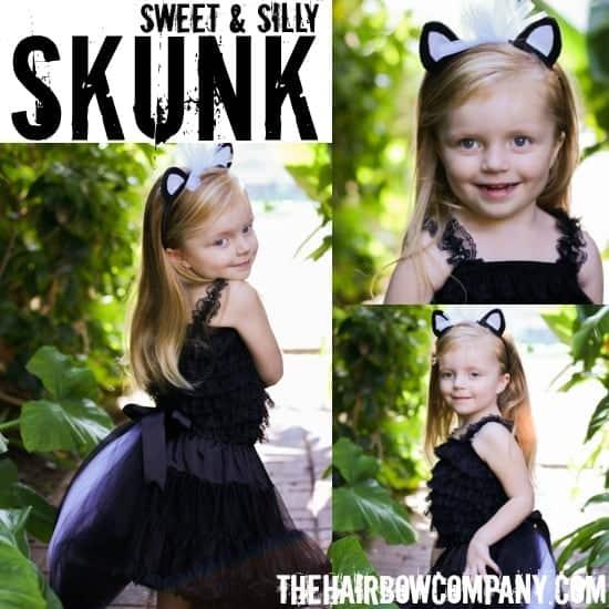 10+ Adorable Tutu Halloween Costumes: Skunk | www.thepinningmama.com