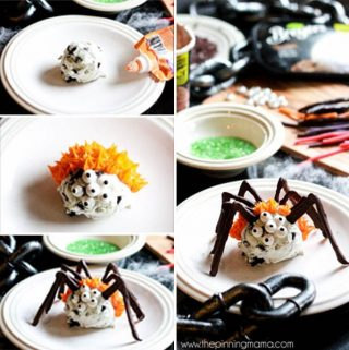 Easy Ice Cream Spiders