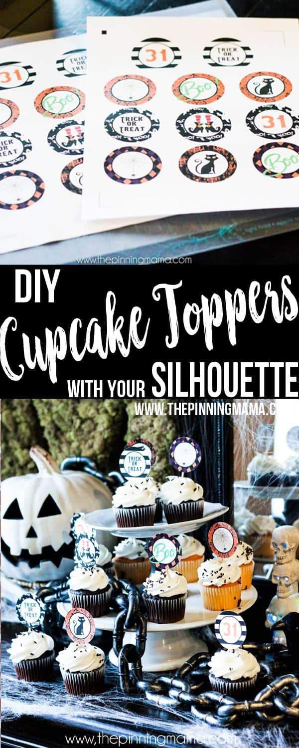 Make the Cutest cupcakes EVER with this free cupcake topper template! Customize it for any theme or holiday! Great for projects with Silhouette CAMEO