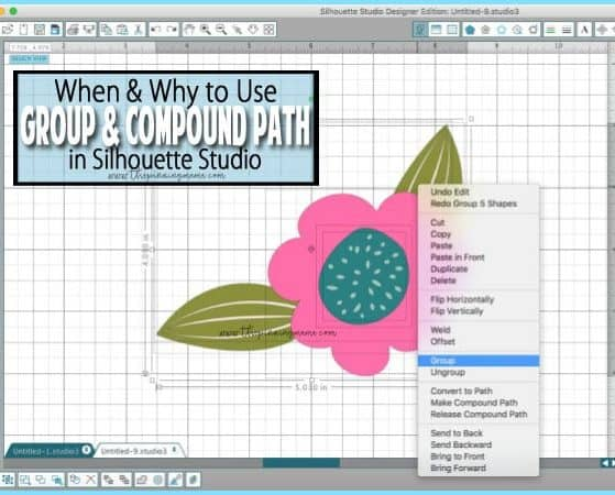 How to Make & Release a Compound Path in Silhouette Studio | www.thepinningmama.com