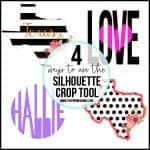 What is Crop in Silhouette Studio {Silhouette Boot Camp: Lesson 4}