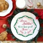FREE Santa Cookie Plate SVG Cut File