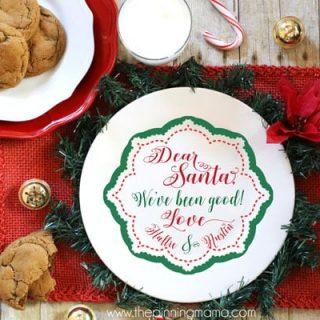 FREE Santa Cookie Plate SVG Cut File