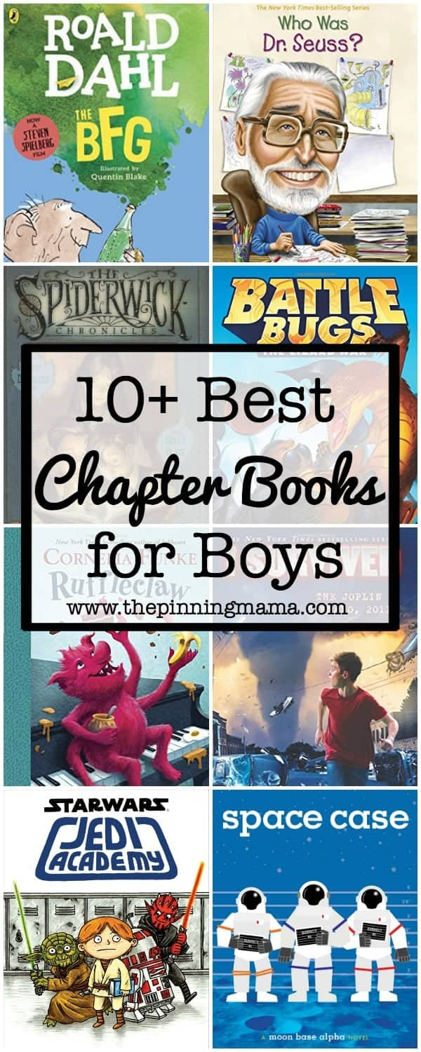 10+ Best Chapter Books for Boys | www.thepinningmama.com