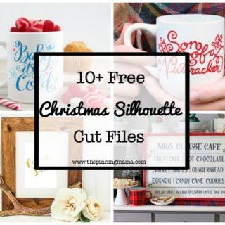 10 FREE Christmas Silhouette Cut Files!