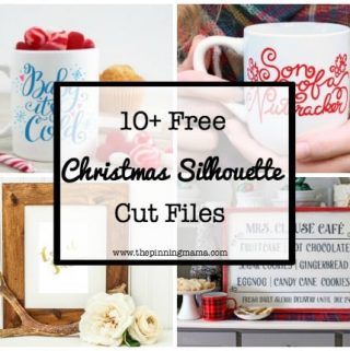 10 FREE Christmas Silhouette Cut Files!
