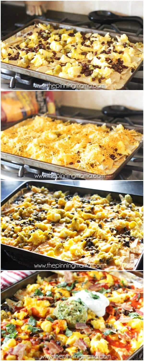Bacon Egg Breakfast Nachos Recipe O The Pinning Mama
