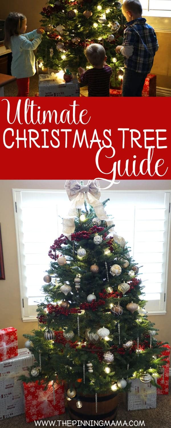 Great ideas for Christmas Tree Decorating! Includes reference sheet for what you need for your tree based on size!