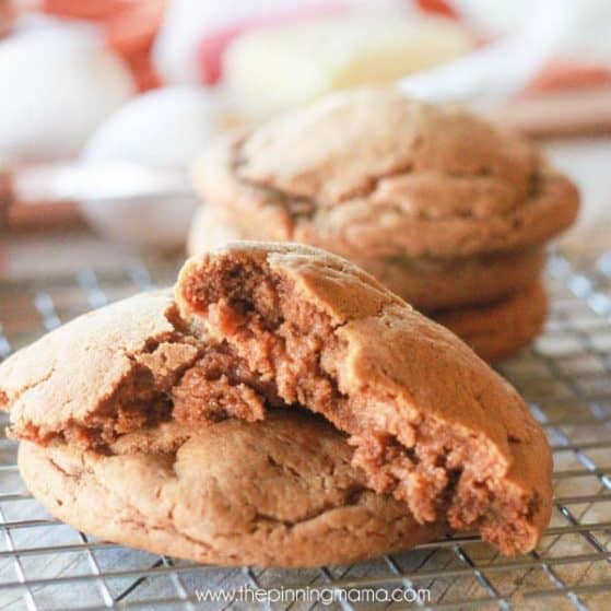 Soft, chewy and super thick ginger snap cookie recipe - These are absolutely the BEST I have ever had! This recipe is a keeper!