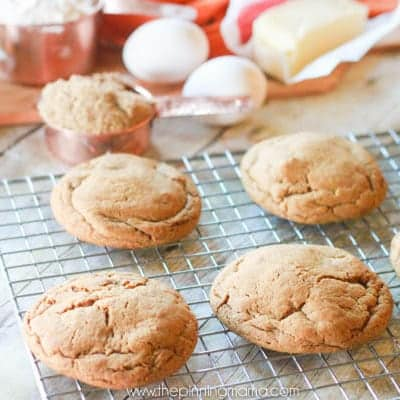 The BEST ginger snap cookie recipe you will ever make! These are soft and chewy but what really makes them special is that they are SUPER thick!