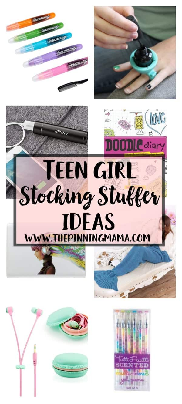 Absolutely LOVE this list of stocking stuffer ideas for teen girls.  These are perfect for inexpensive and quality gifts to fill up a stocking for a picky teen.