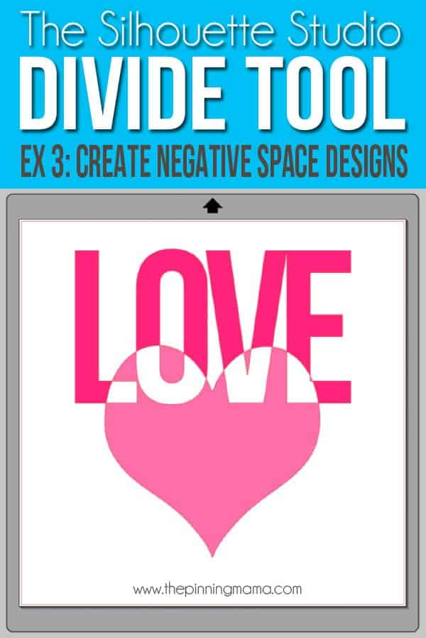 Use the divide tool in Silhouette Studio to create designs with negative space.