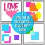 How to use Divide in Silhouette Studio {Silhouette Boot Camp Lesson 5}
