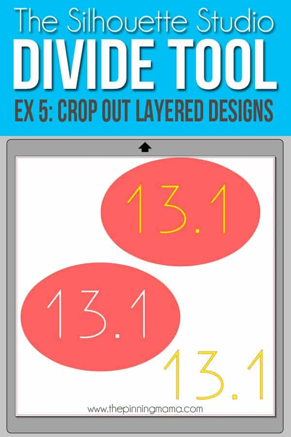 Use the divide tool in Silhouette Studio to crop out areas where vinyl will be layered to create consistent thickness in your final product.