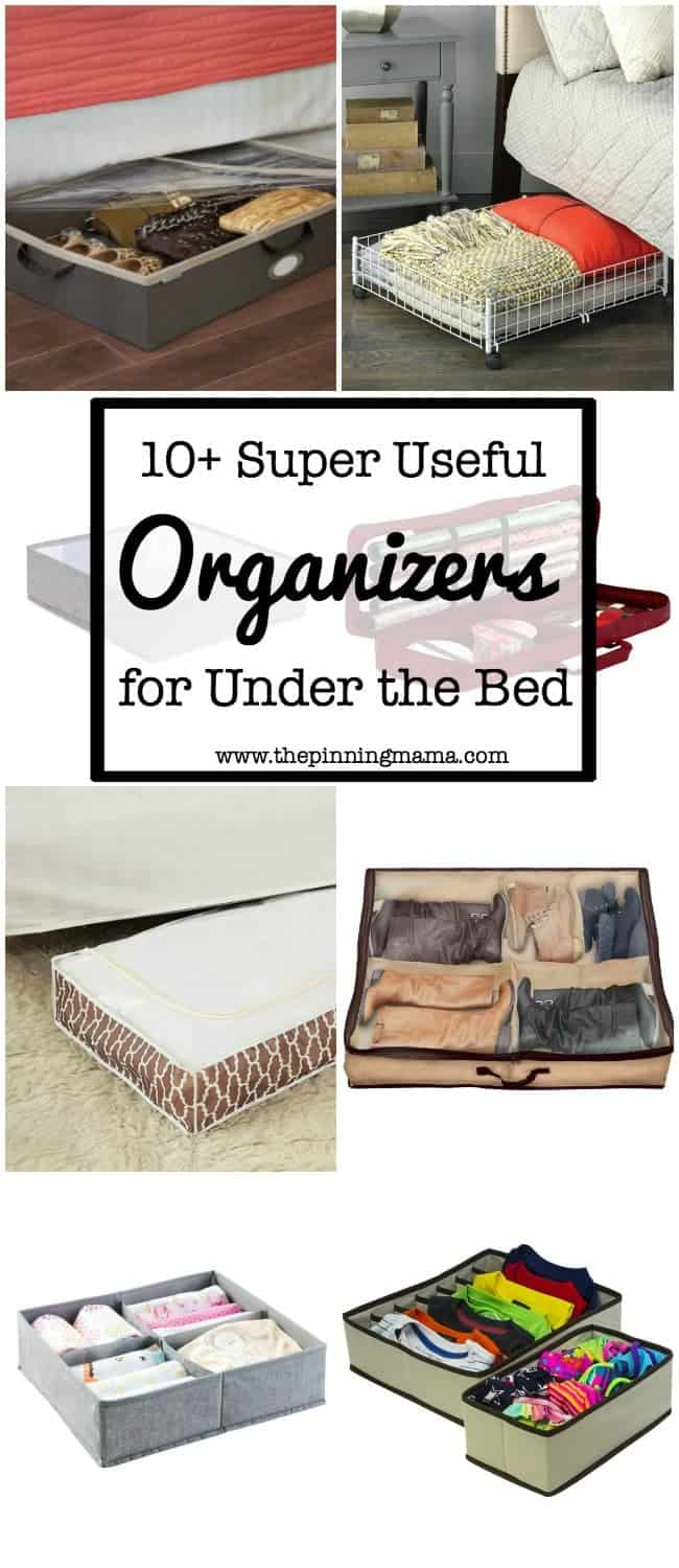 10+ Super Useful Under the Bed Organizers | www.thepinningmama.com