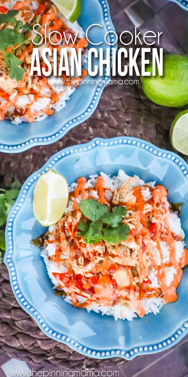 Crock pot asian chicken recipe the pinning mama these crock pot asian chicken bowls are one of my forumfinder Images