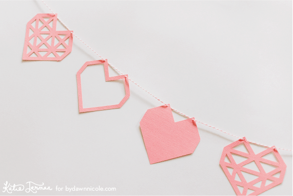 FREE Valentine's Day Silhouette Cut Files - Geometric Heart + Plenty of inspiration and craft ideas for your Silhouette & Cricut Crafting machines!