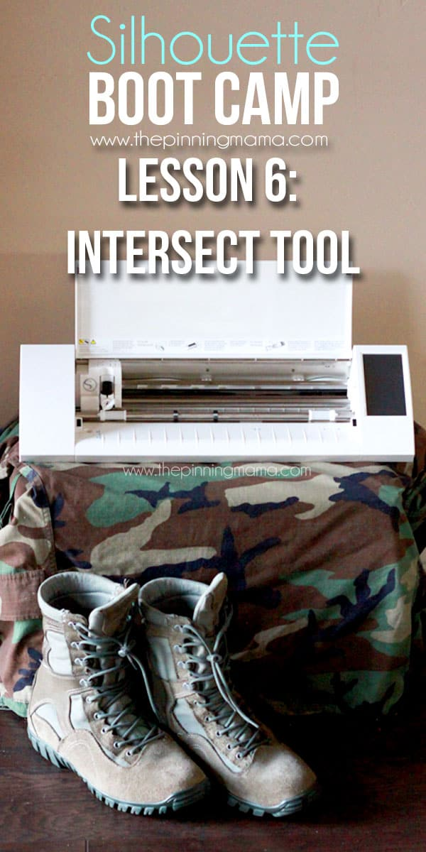 Silhouette BOOT CAMP Lesson 6: How to use the Intersect tool to design with your Silhouette CAMEO