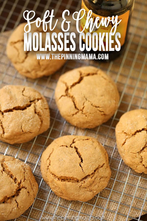 Soft & Chewy Molasses Cookies Recipe