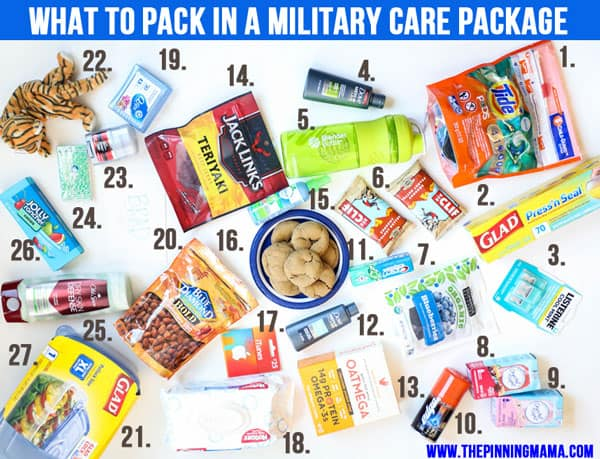 over 30 ideas on what to pack in a military care package this list is