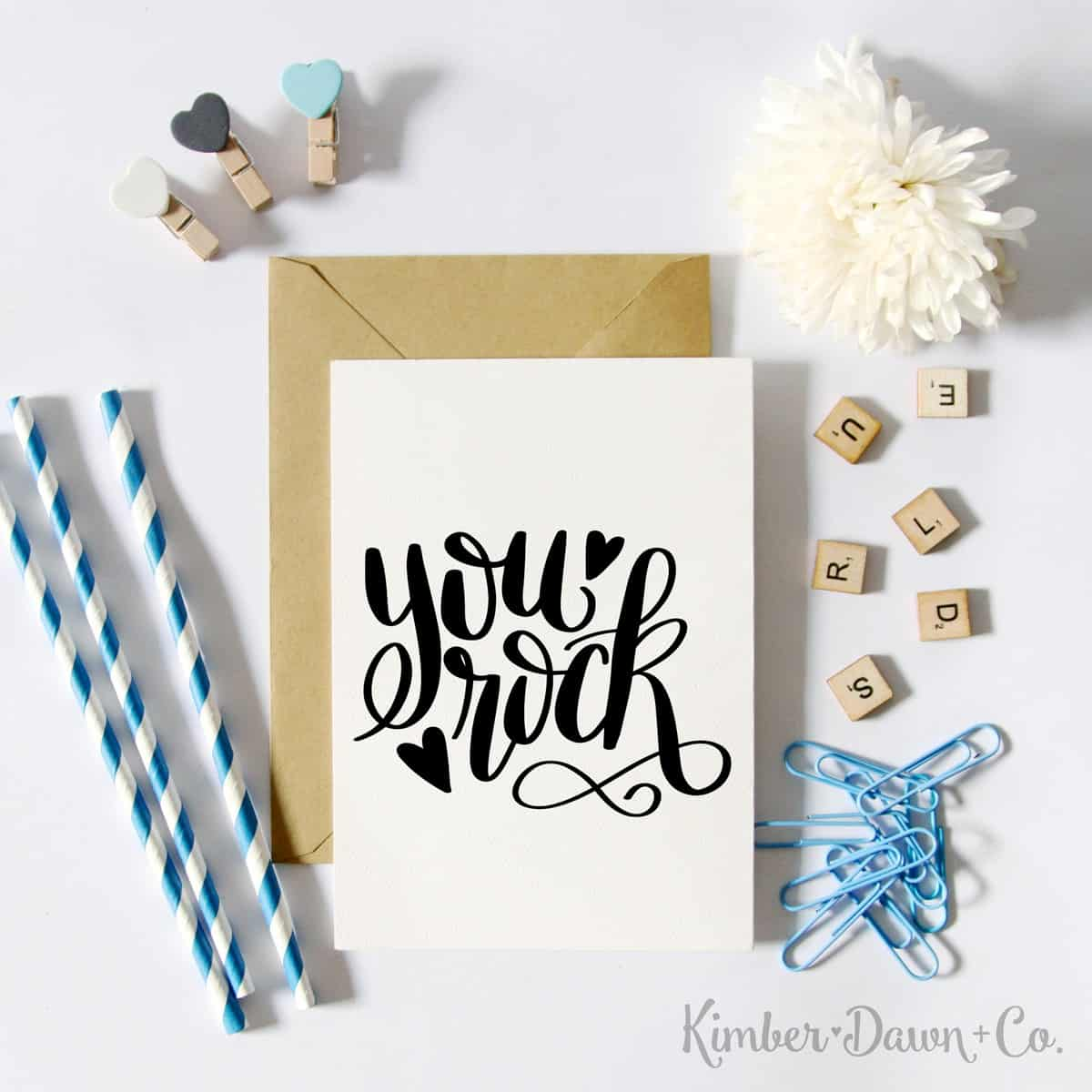 You Rock SVG Free cut file - Grab 15+ free Silhouette CAMEO cut files for Valentine's Day here!