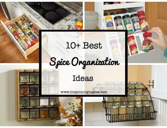 10+ Best Ways to Organize Spices | www.thepinningmama.com