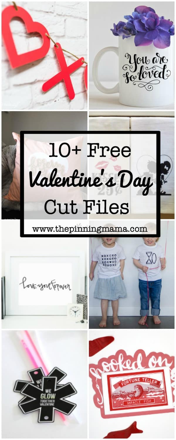 10 Free Valentines Silhouette Cut Files | www.thepinningmama.com