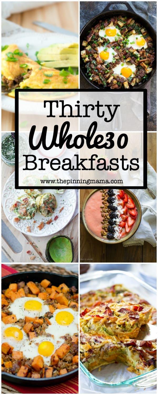30 Days of Whole30 Breakfasts  www.thepinningmama.com