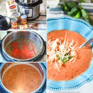 This is AMAZING! Instant Pot Creamy Tomato Soup- Just a few ingredients and a few minutes to this easy soup recipe! Makes a great winter lunch or dinner!