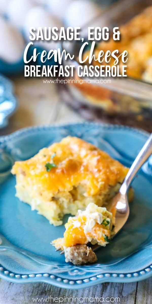 Sausage egg cream cheese breakfast casserole recipe the pinning perfect for brunch the best breakfast casserole we have had packed with sausage forumfinder Image collections