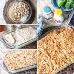 The Easiest and Most Delicious Creamy Chicken & Rice Casserole! Only 7 ingredients to one of my family's favorite easy dinners!