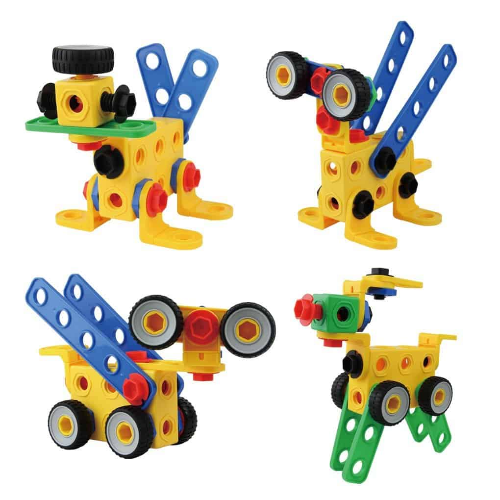 10+ Super Entertaining Stem Toys for Kids: Construction Building Blocks | www.thepinningmama.com
