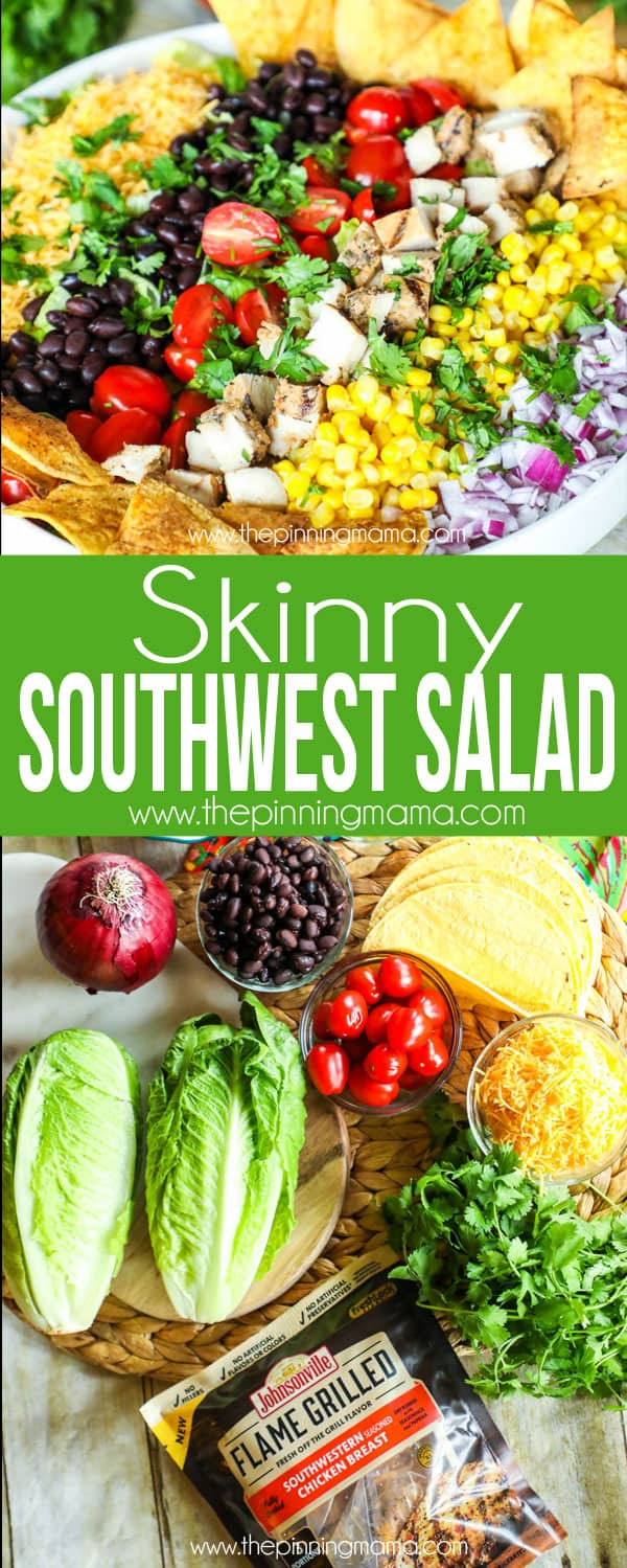 SKinny Southwest Salad Recipe   Packed With Flavor But Light Enough To Keep  You Feeling Great