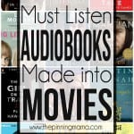 Best Audiobooks Turned into Movies!