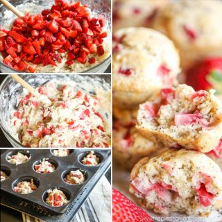 Bakery Style Strawberry Poppy Seed Muffins
