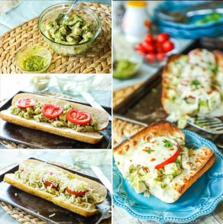 Baked Chicken Caprese Subs