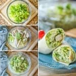 Pesto Chicken Caesar Wrap Recipe