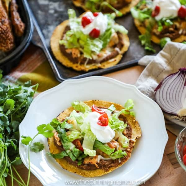 Baked Rotisserie Chicken Tostadas Recipe