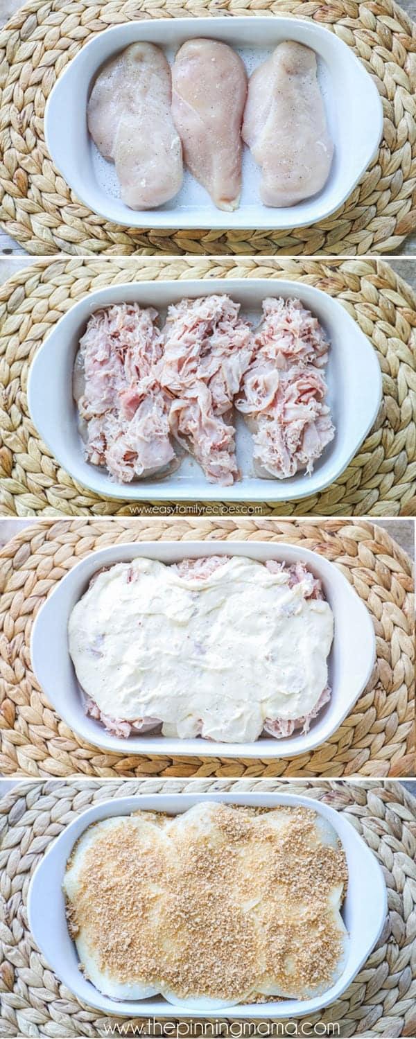 Chicken Cordon Bleu Casserole Food Sweet Recipe