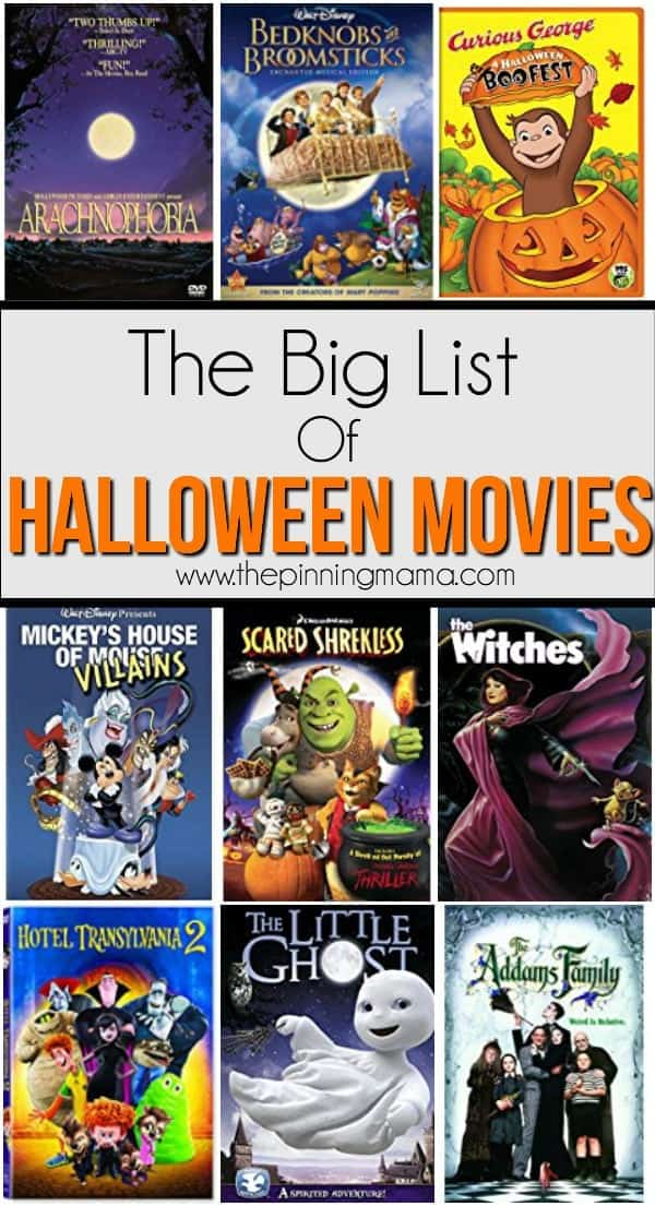 The Big List of Halloween Movies for Kids • The Pinning Mama