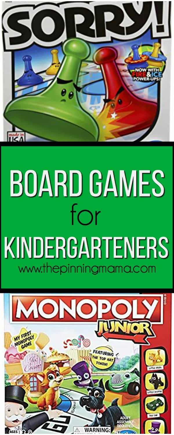 board games for your kindergarteners
