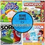 Board Games for Kindergarteners