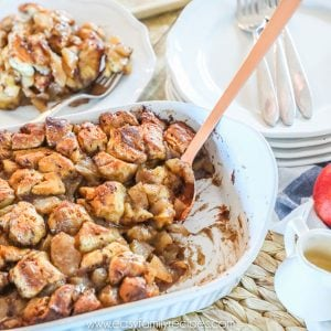 Apple Cinnamon Breakfast Casserole served