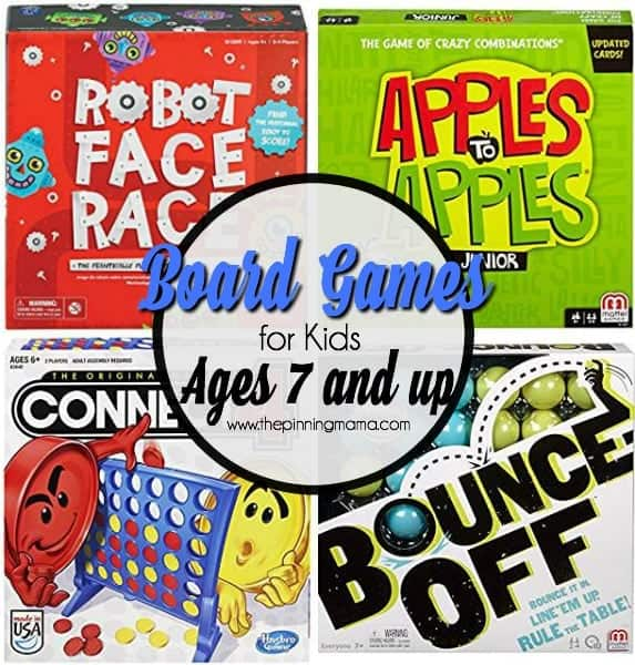 board games for kids ages 7 and up