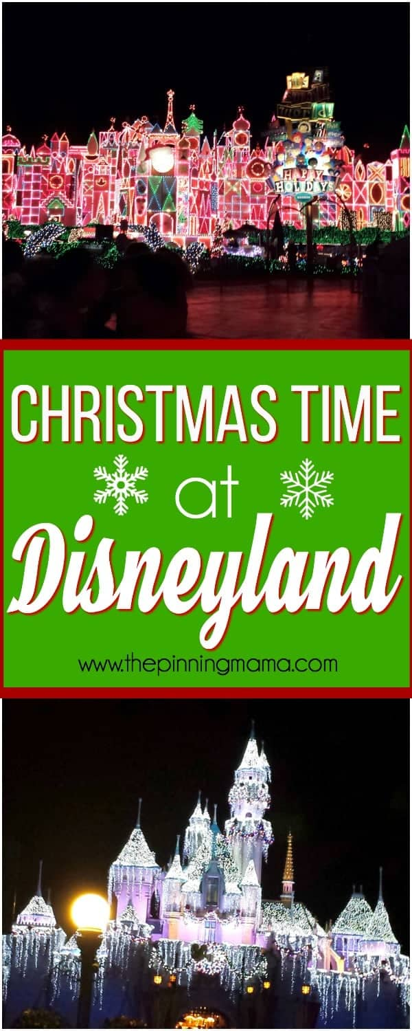 Christmas time at Disneyland , what to do and see