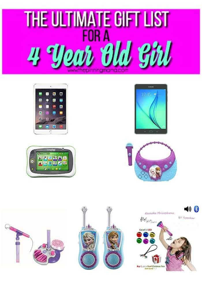 electronic toys for a 4 year old girl , ultimate gift list