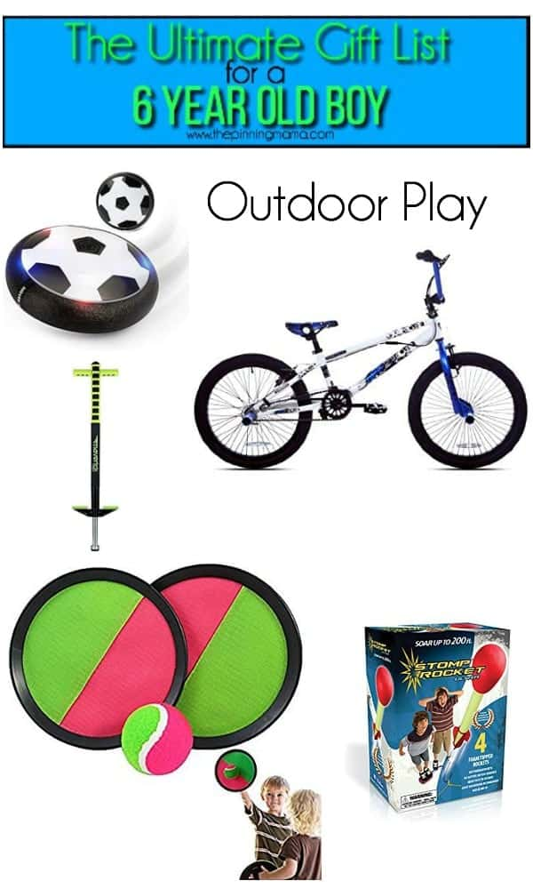 gift list for outdoor play for a 6 year old