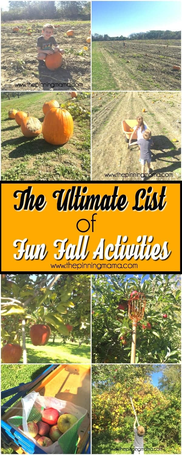 fall bucket list for the family