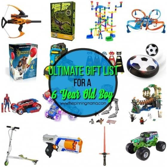 complete list of gifts for a 6 year old boy